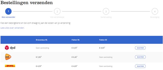 bestellingen verzenden via bol.com