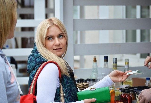 vrouwelijke klant